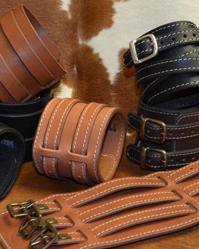 Bracelets de force en cuir