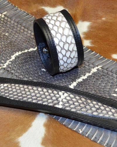 Bracelets de force avec cuir exotique